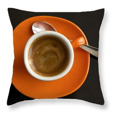 Cup Of Coffee Throw Pillow by Chevy Fleet