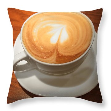 Cup Of Coffee Throw Pillow by Matthias Hauser