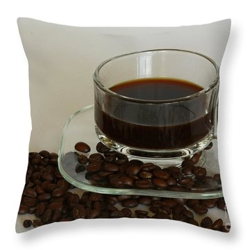 Cup Of Java Throw Pillow by Inspired Nature Photography Fine Art Photography
