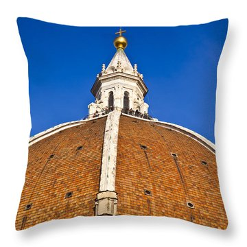 Cupola On Florence Duomo Throw Pillow by Liz Leyden