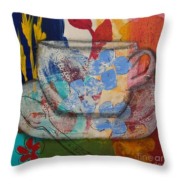 Cuppa Luv Throw Pillow