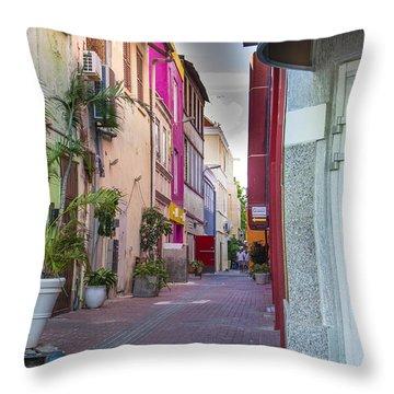 Curacao Alley Throw Pillow