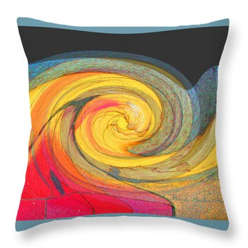 Throw Pillow featuring the photograph Curb Swirl by Brooks Garten Hauschild