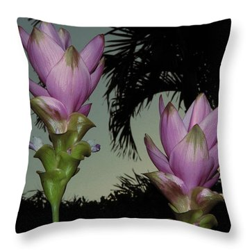 Throw Pillow featuring the photograph Curcuma Hybrid Flowers by Greg Allore