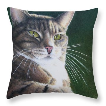 Royalty Throw Pillow by Pamela Clements