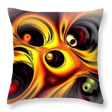 Curious Throw Pillow by Anastasiya Malakhova