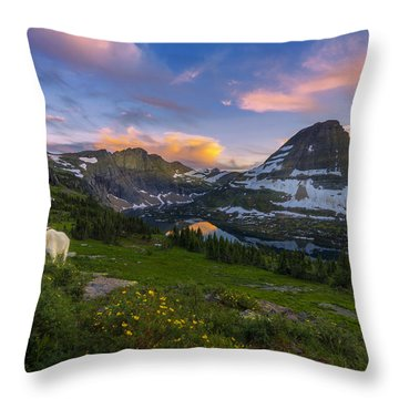 Curious Goat Throw Pillow