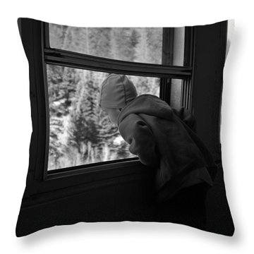 Throw Pillow featuring the photograph Curious by Jeremy Rhoades