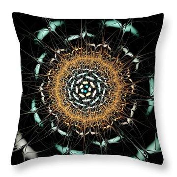 Curious Moth Throw Pillow by Anastasiya Malakhova