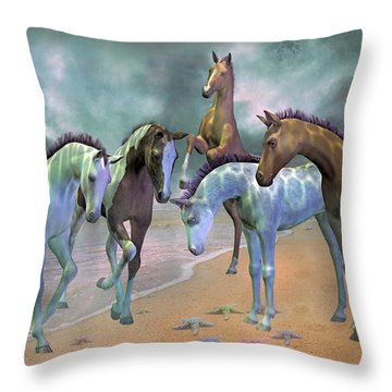 Curious Ones Throw Pillow