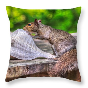 Throw Pillow featuring the photograph Curious Squirrel by Rob Sellers