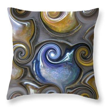 Curlicue II Throw Pillow