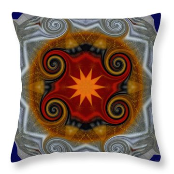 Curls Throw Pillow by Donna Blackhall