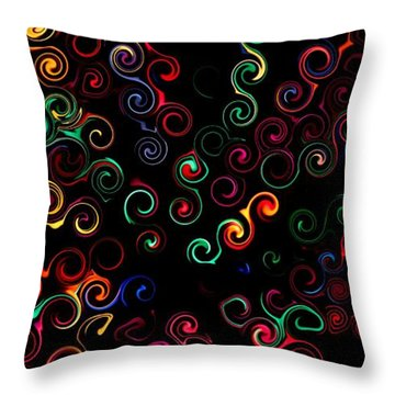 Throw Pillow featuring the photograph Curly Swirls by Bill Kesler