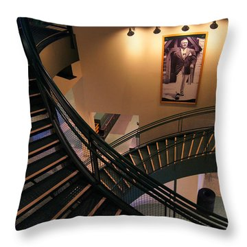 Curly's Stairway Throw Pillow by Bill Pevlor
