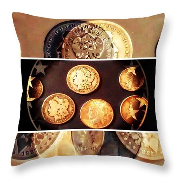 Currency Of Past Era Throw Pillow