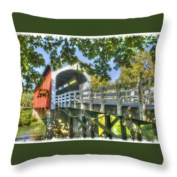 Currin Bridge-oregon Throw Pillow by Geraldine Alexander