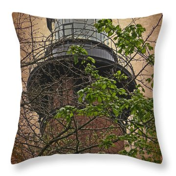 Currituck Light House Throw Pillow
