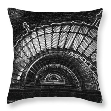 Currituck Lighthouse Stairs Throw Pillow