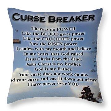 Curse Breaker Throw Pillow
