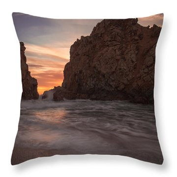 Curtain Call At Big Sur Throw Pillow