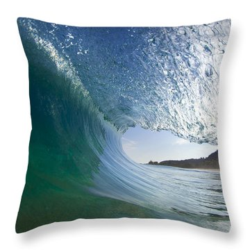 Curtain Coming Down Throw Pillow by Sean Davey