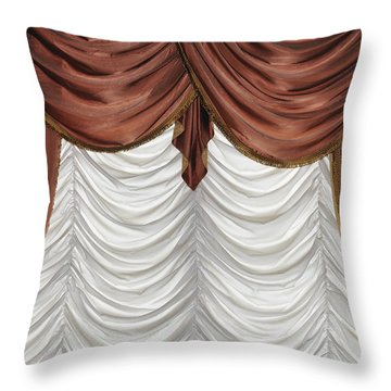 Curtain Throw Pillow by Matthias Hauser