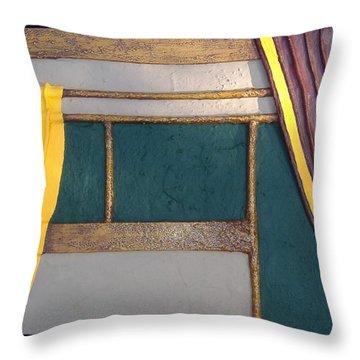 Curtain Throw Pillow by Steve  Hester