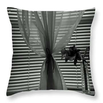Curtin With Lillies Throw Pillow by Kenny Francis