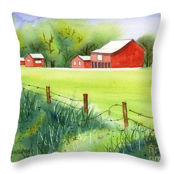 Curtis Farm Remix Throw Pillow