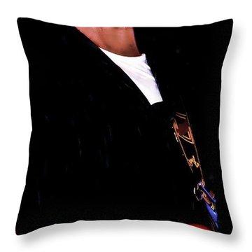 Curtis King Throw Pillow