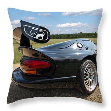 Curvalicious Viper - Square Throw Pillow