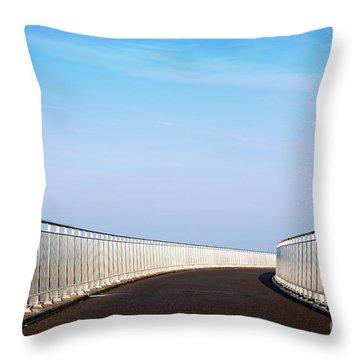 Curved Bridge Throw Pillow