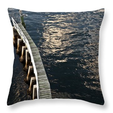 Curved Fender Las Olas Drawbridge Fort Lauderdale Florida Throw Pillow