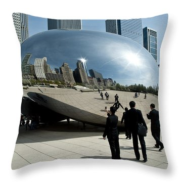 Curved Perception Throw Pillow