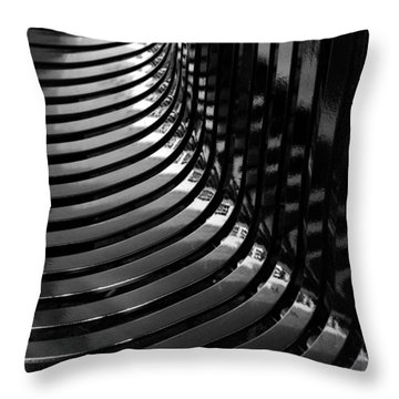 Curved Throw Pillow by Wendy Wilton
