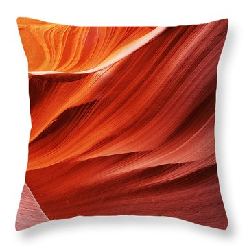 Curves And Colors Throw Pillow