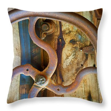 Curves And Lines Throw Pillow by Stephen Anderson