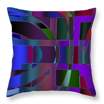 Curves And Trapezoids 2 Throw Pillow