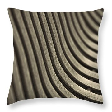 Curves I. Throw Pillow by Clare Bambers