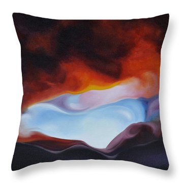 Curves On The Horizon Throw Pillow