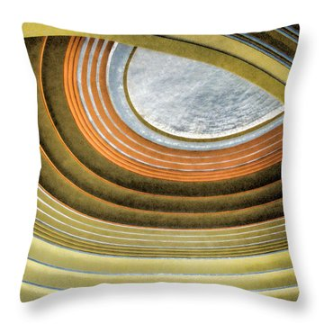 Curving Ceiling Throw Pillow