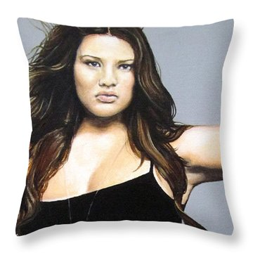 Curvy Beauties - Tara Lynn Throw Pillow