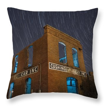 Cushing Auto Service Throw Pillow
