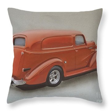 Custom Delivery Truck Throw Pillow by Paul Kuras