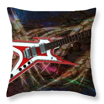 Custom Guitar  Throw Pillow by Louis Ferreira