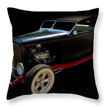 Old Car Throw Pillow featuring the photograph Custom Hot Rod by Aaron Berg