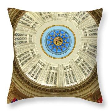 Custom House Dome Throw Pillow by Joann Vitali