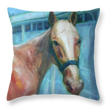 Custom Pet Portrait Painting - Original Artwork -  Horse - Dog - Cat - Bird Throw Pillow