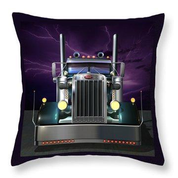Custom Peterbilt 3 Throw Pillow